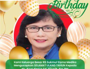 Selamat Ulang Tahun dr. Sondang M Sirait, Sp.PK